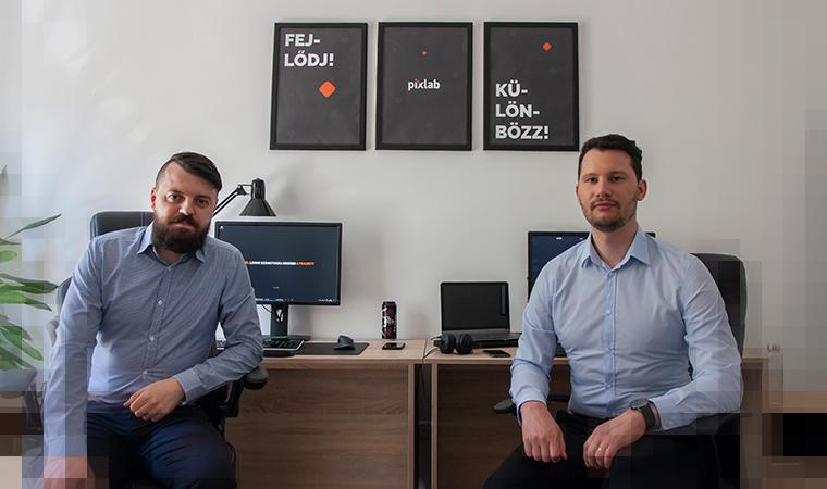 Pixlab csapat az irodában